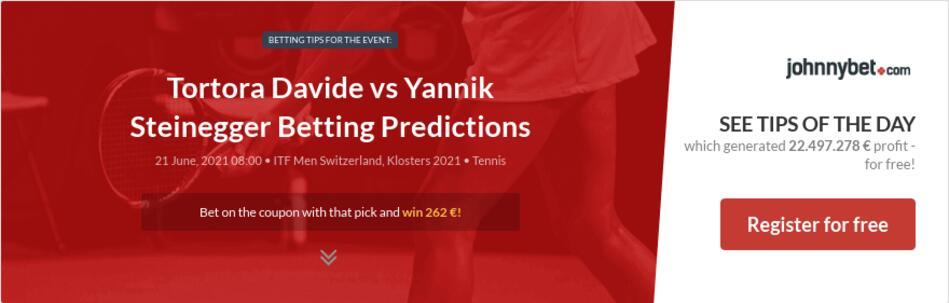 Tortora Davide vs Yannik Steinegger Betting Predictions