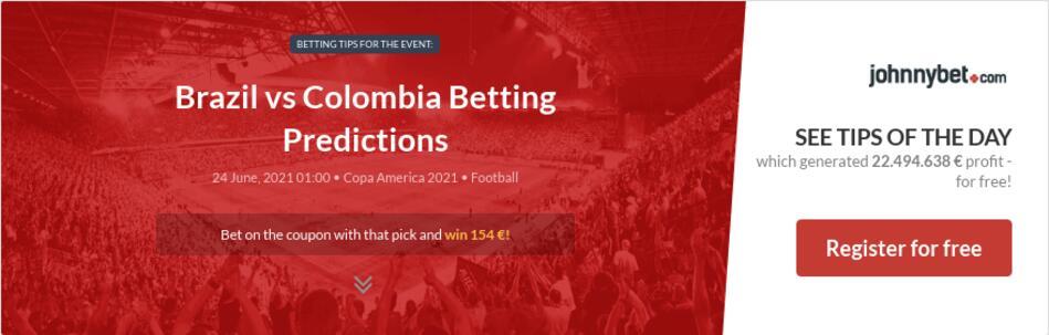 Brazil vs Colombia Betting Predictions