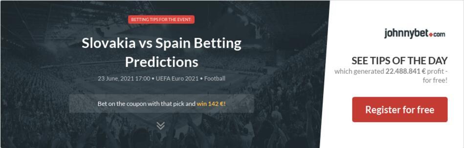 Slovakia vs Spain Betting Predictions