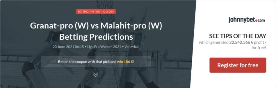 Granat-pro (W) vs Malahit-pro (W) Betting Predictions