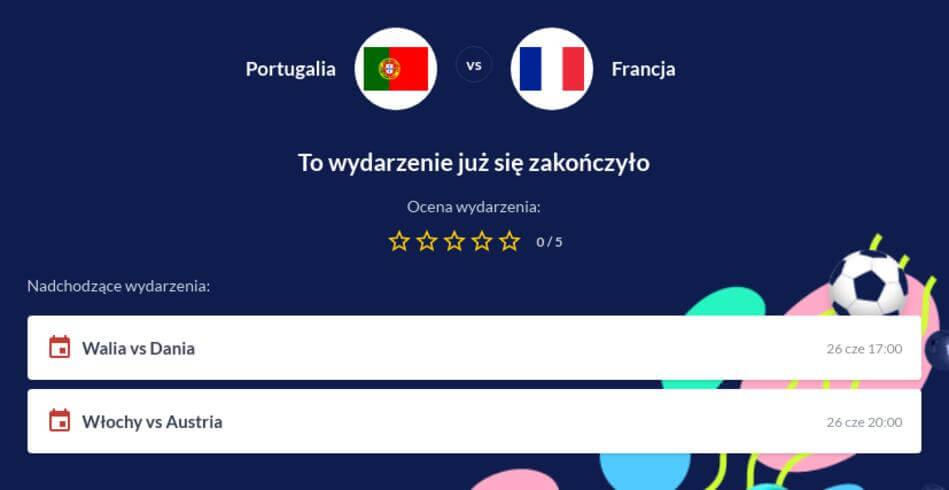 Portugalia - Francja Zakłady Bukmacherskie