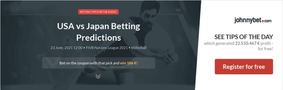 USA vs Japan Betting Predictions