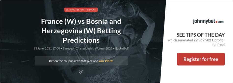 France (W) vs Bosnia and Herzegovina (W) Betting Predictions