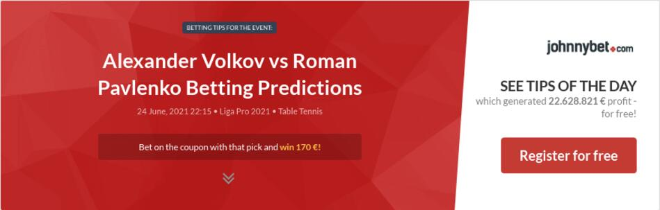 Alexander Volkov vs Roman Pavlenko Betting Predictions