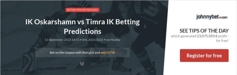 IK Oskarshamn vs Timra IK Betting Predictions