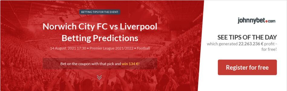 Norwich City FC vs Liverpool Betting Predictions