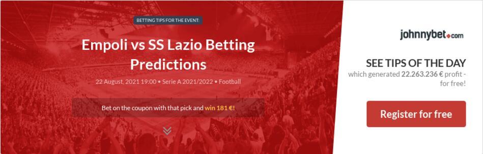 Empoli vs SS Lazio Betting Predictions