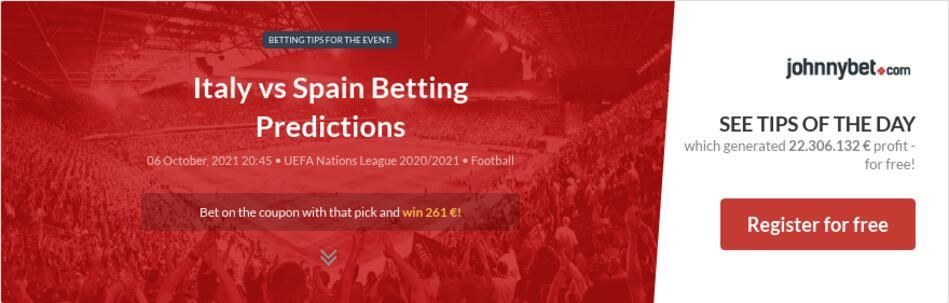 Italy vs Spain Betting Predictions