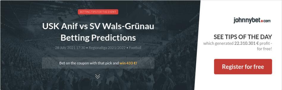 USK Anif vs SV Wals-Grünau Betting Predictions