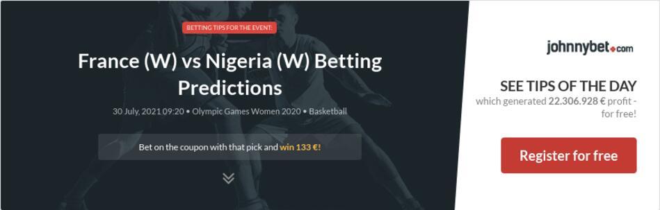 France (W) vs Nigeria (W) Betting Predictions