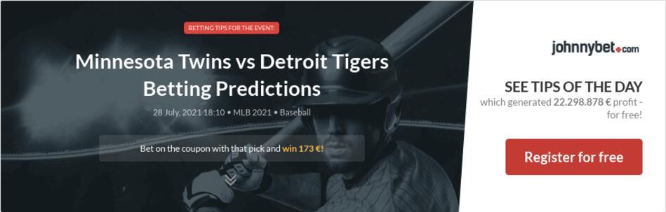 Minnesota Twins vs Detroit Tigers Betting Predictions