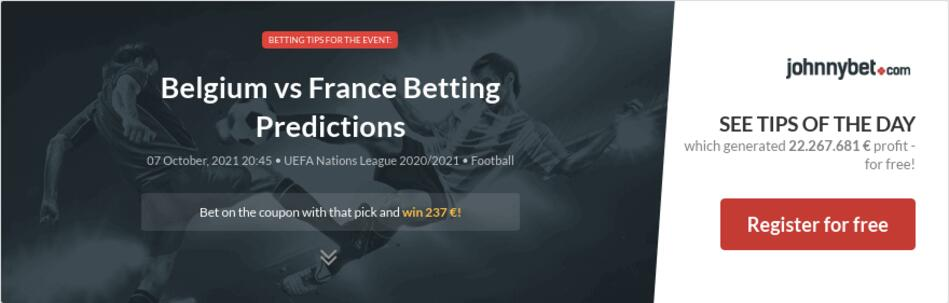 Belgium vs France Betting Predictions