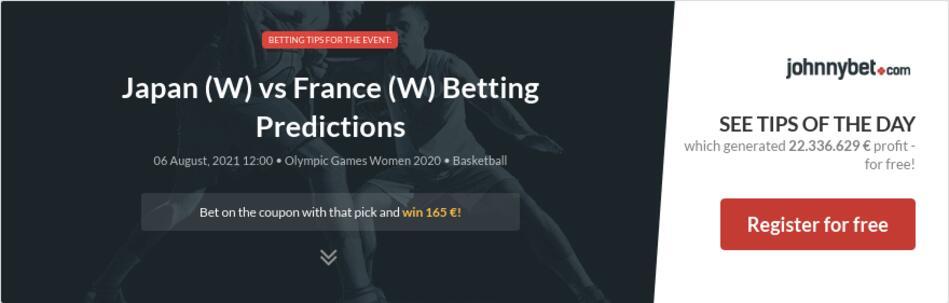 Japan (W) vs France (W) Betting Predictions