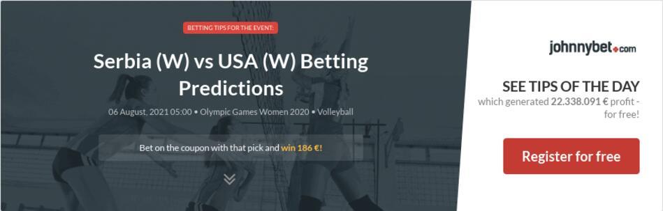 Serbia (W) vs USA (W) Betting Predictions