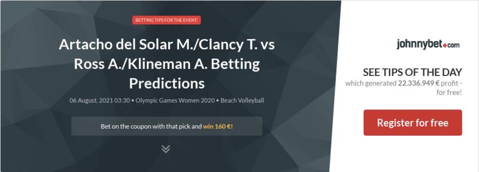Artacho del Solar M./Clancy T. vs Ross A./Klineman A. Betting Predictions