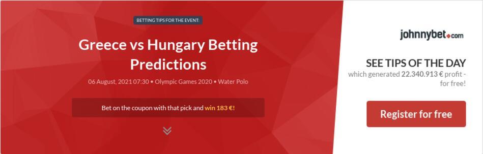 Greece vs Hungary Betting Predictions