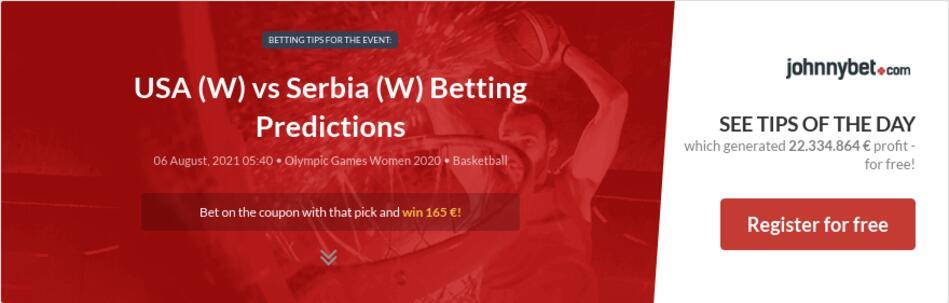 USA (W) vs Serbia (W) Betting Predictions