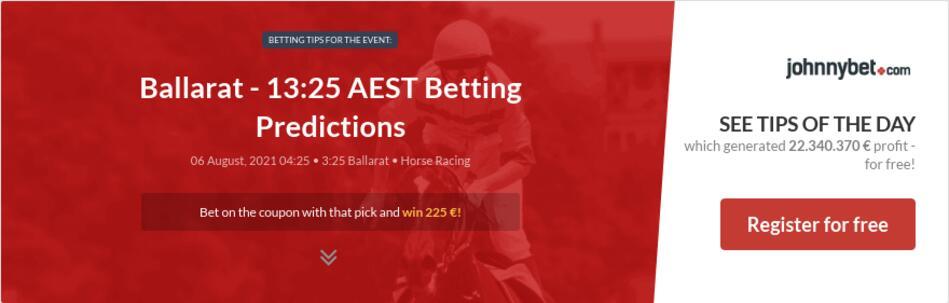 Ballarat - 13:25 AEST Betting Predictions