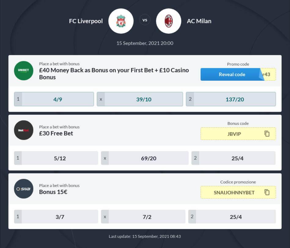 Liverpool vs Milan Betting Tips