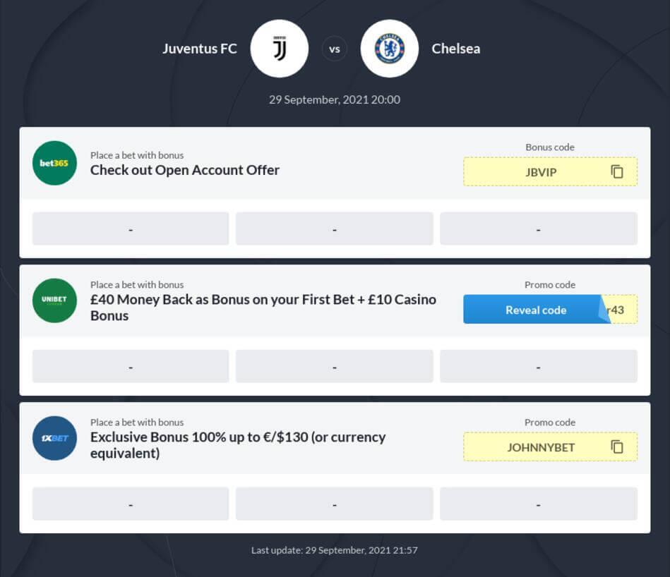 Chelsea vs Juventus Betting Tips