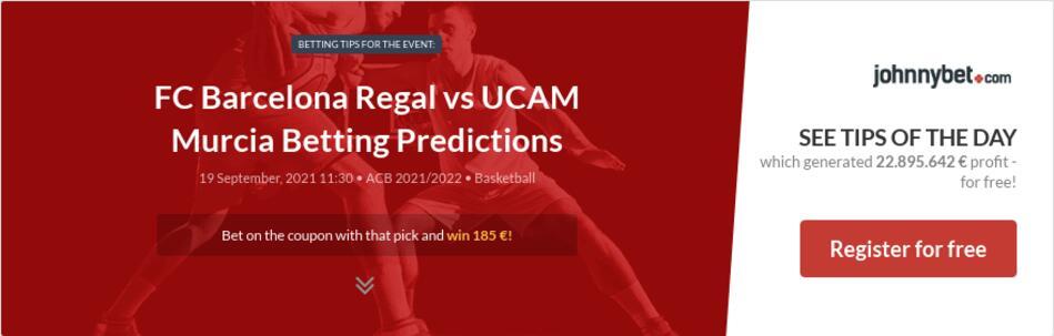 FC Barcelona Regal vs UCAM Murcia Betting Predictions