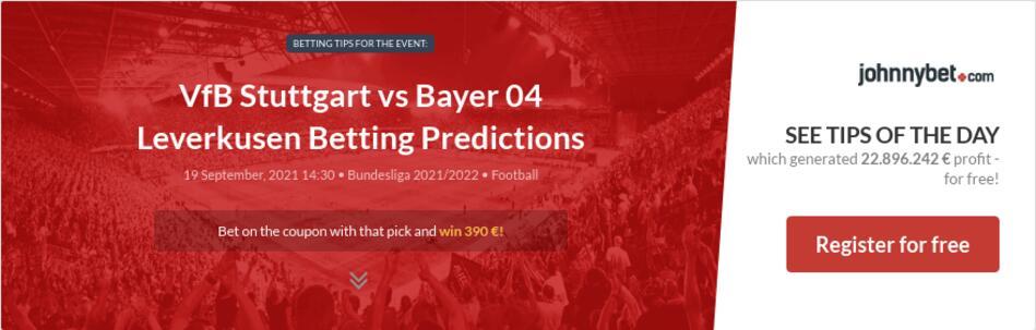VfB Stuttgart vs Bayer 04 Leverkusen Betting Predictions
