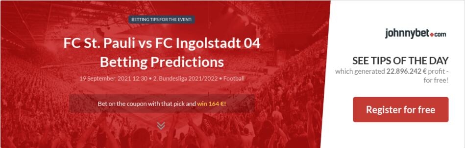FC St. Pauli vs FC Ingolstadt 04 Betting Predictions