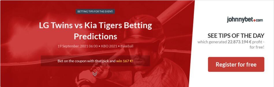 LG Twins vs Kia Tigers Betting Predictions