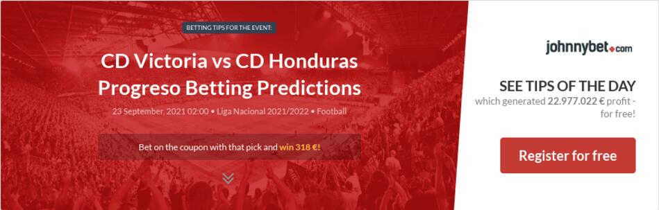 CD Victoria vs CD Honduras Progreso Betting Predictions