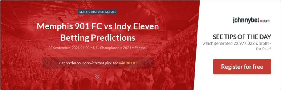 Memphis 901 FC vs Indy Eleven Betting Predictions