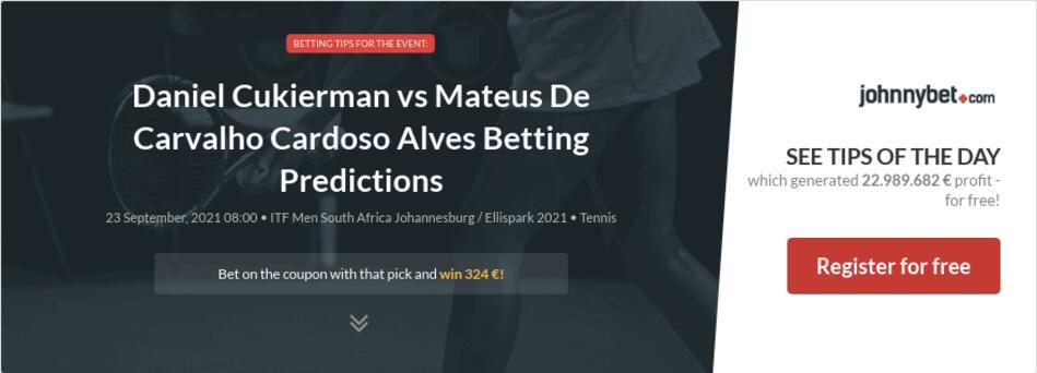 Daniel Cukierman vs Mateus De Carvalho Cardoso Alves Betting Predictions
