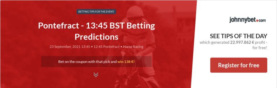Pontefract - 13:45 BST Betting Predictions