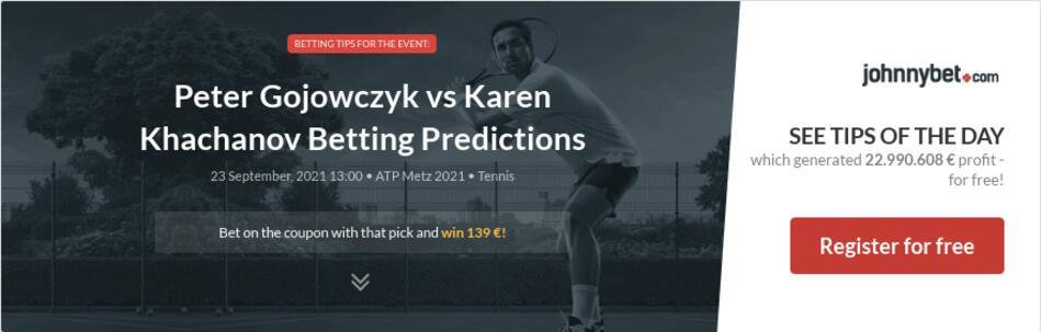 Peter Gojowczyk vs Karen Khachanov Betting Predictions
