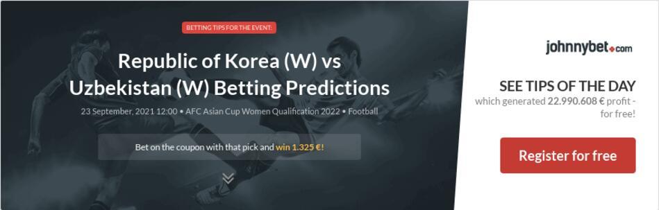 Republic of Korea (W) vs Uzbekistan (W) Betting Predictions