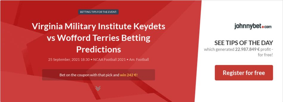 Virginia Military Institute Keydets vs Wofford Terries Betting Predictions