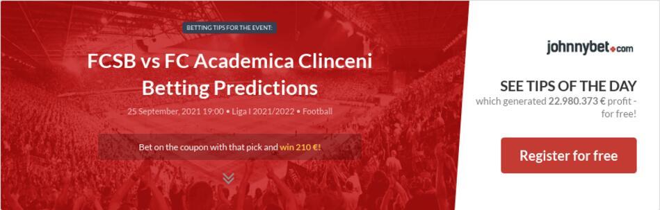 FCSB vs FC Academica Clinceni Betting Predictions