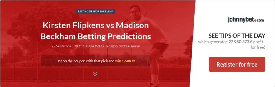 Kirsten Flipkens vs Madison Beckham Betting Predictions