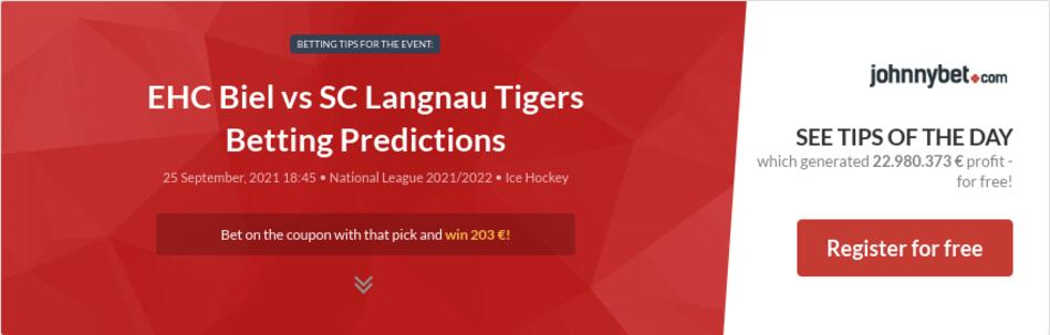 EHC Biel vs SC Langnau Tigers Betting Predictions