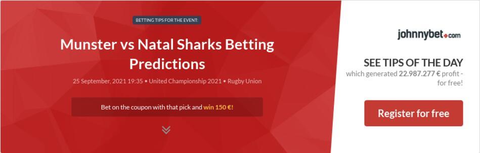 Munster vs Natal Sharks Betting Predictions