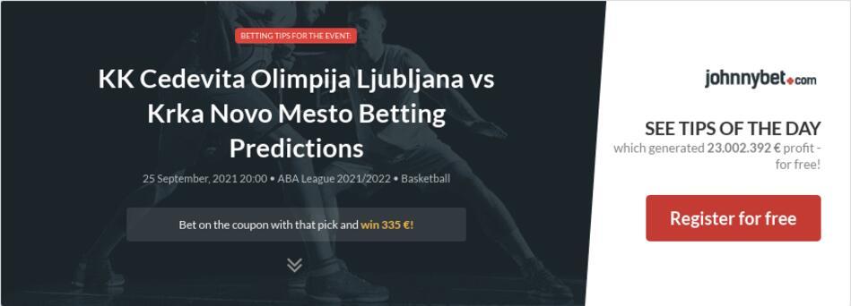 KK Cedevita Olimpija Ljubljana vs Krka Novo Mesto Betting Predictions