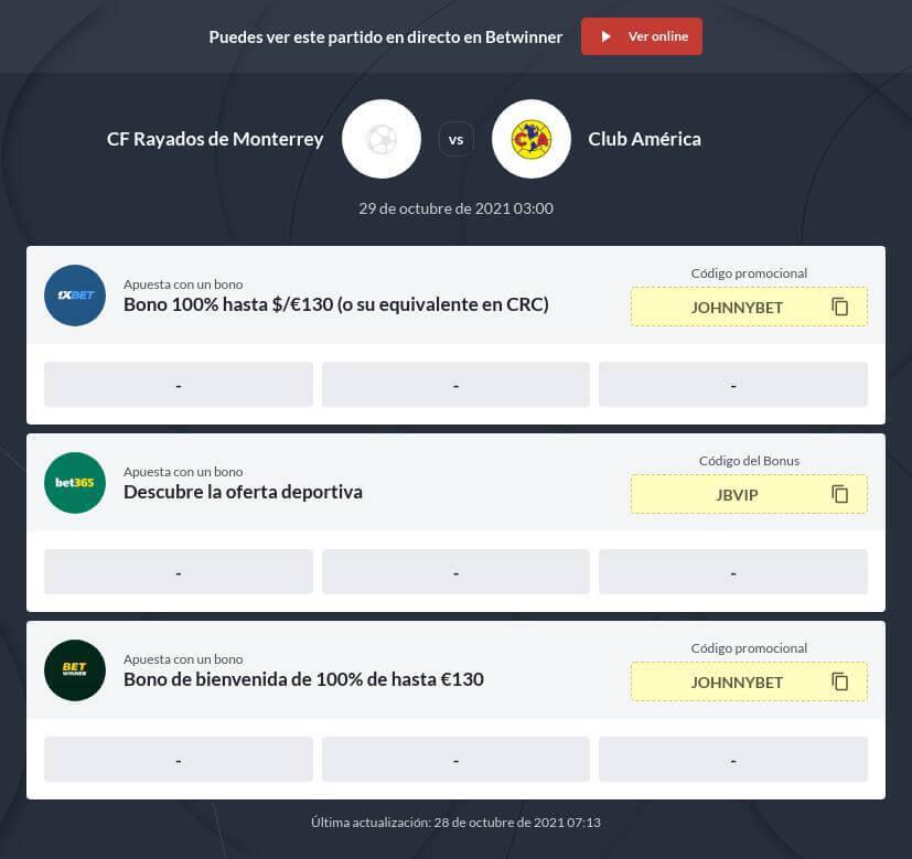 Pronóstico Monterrey vs América