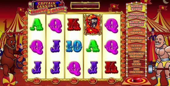 Captain Cannons Circus Of Cash Slot Machine