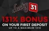 Lucky31 Casino Bonus Code 2021