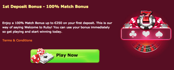 Ruby Fortune Casino Bonus Code 2020 Bonus Up To 750 Review