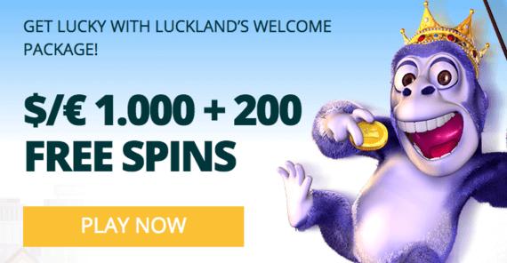 Luckland Casino Bonus Code